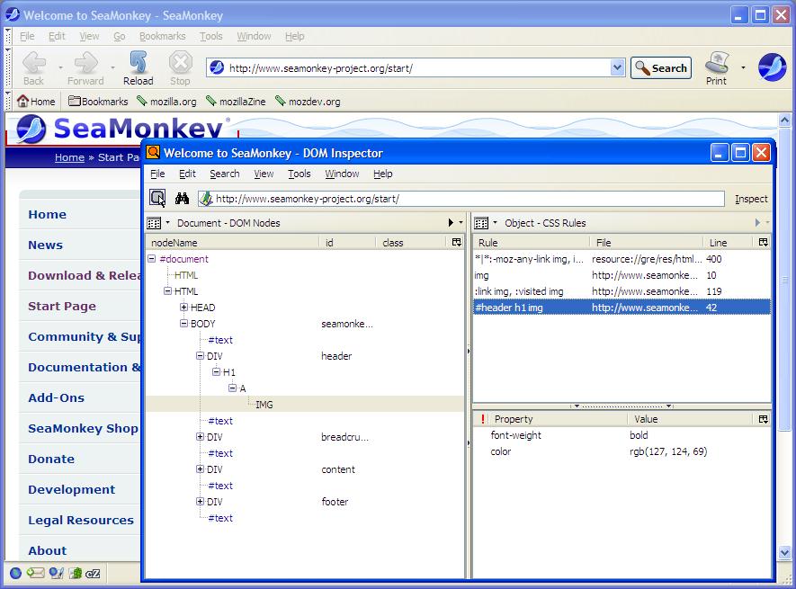 SeaMonkey 2 0 Screenshots