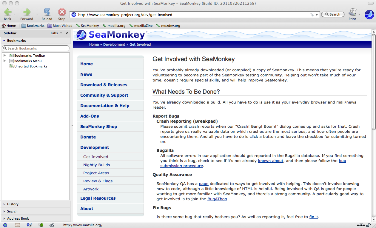 SeaMonkey screenshot